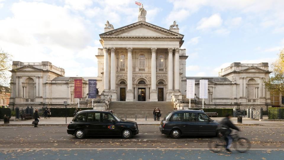 View of the tate Britain from the quays